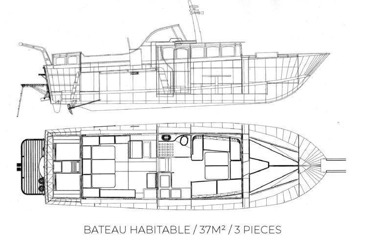 Plan bateau habitable