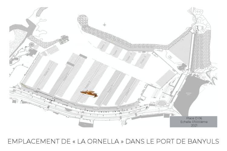 emplacement bateau La Ornella à Banyuls