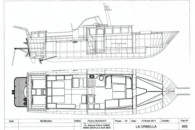 Plan bateau La Ornella