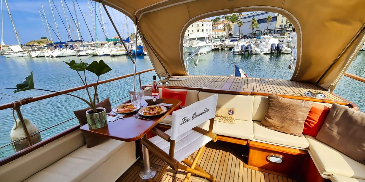 Repas romantique à Banyuls sur Mer