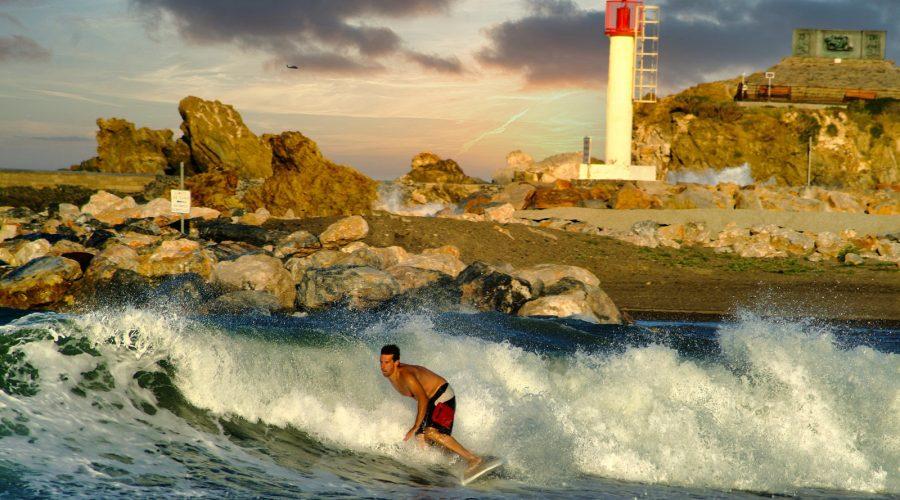 Pratique du surf dans le 66