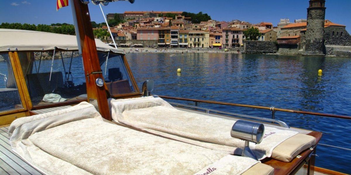 Plage privée à Collioure